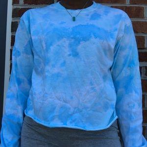 Tye dye crop top shirt